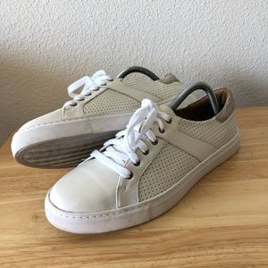 Trask Lindsey White Lace Front Sneaker Shoe
